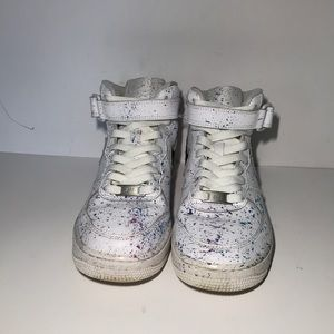 Custom splatter Air Force 1